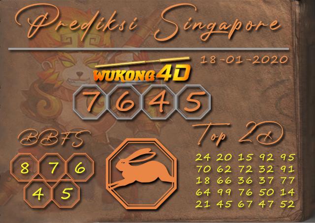 Prediksi Togel SINGAPORE WUKONG4D 18 JANUARI 2020