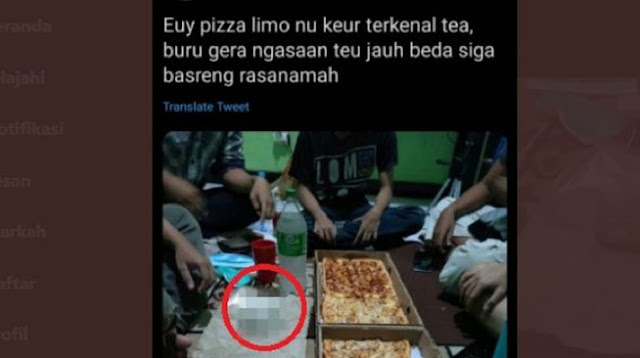 Viral Pemuda Makan Pizza 1 Meter, Pas Dizoom Warganet Kaget Lihat Hal Ini