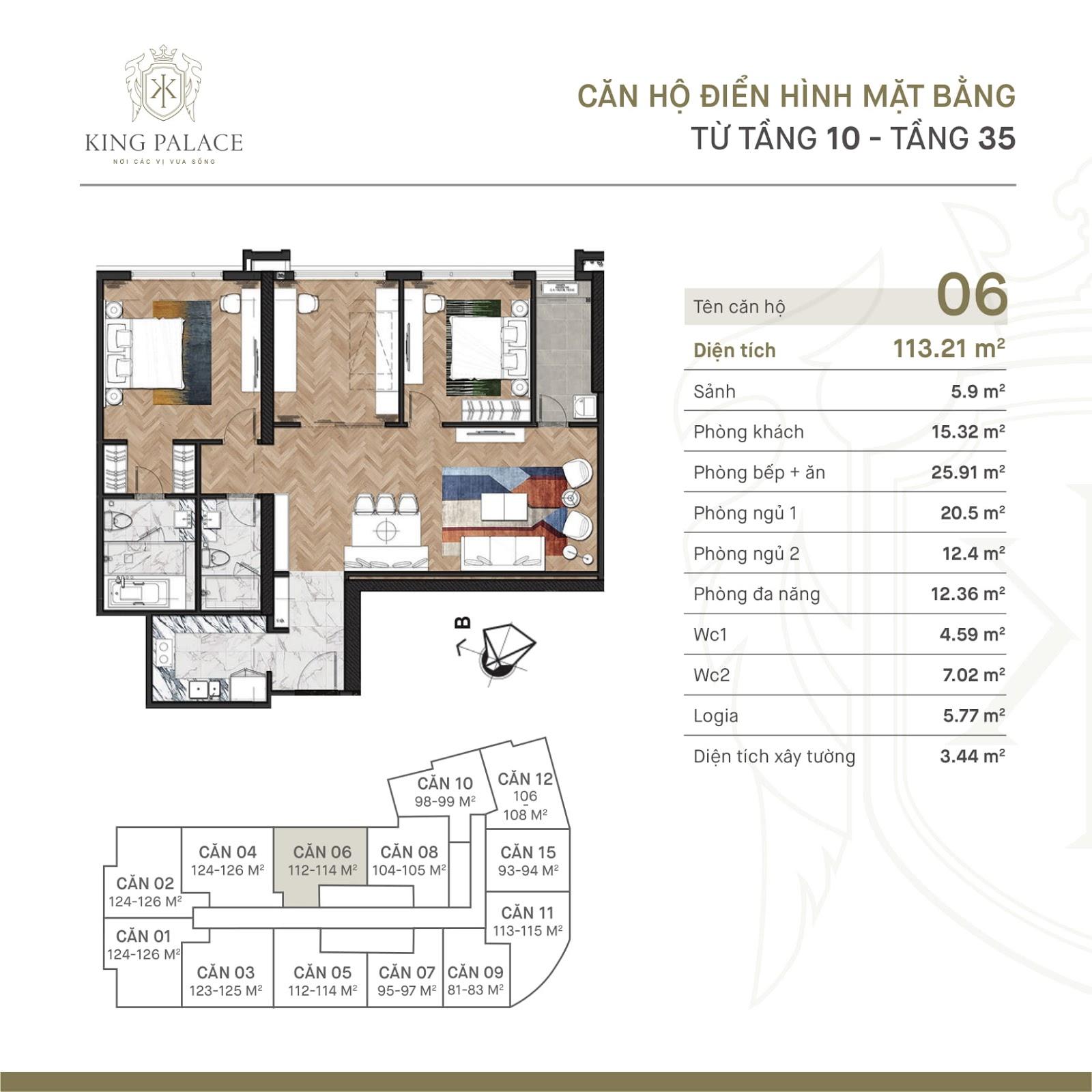 Thiết kế căn hộ King Palace