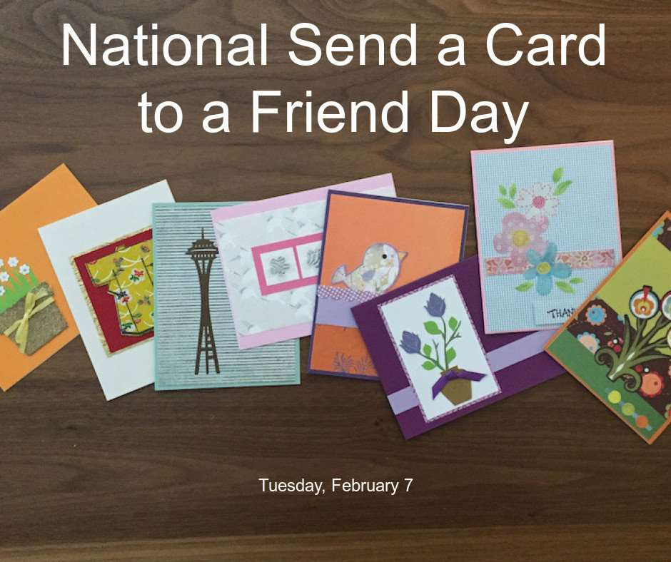 National Send a Card to a Friend Day Wishes pics free download