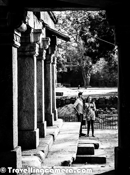 Apart from visiting the Royal Tank, Deer Park and various restaurants of Hauz Khas Village we also spent some time around Firoz Shah's Tomb in Green park, Delhi. Let's have a Photo Journey to the place with some information picked from various sources... The very first photograph of this PHOTO JOURNEY is main entry into the Tomb of Firoz Shah, his two Sons and a Grandson. The above Photograph is not exactly Tomb but some other ruins in the garden of Hauz Khas Village in Delhi.Firoz Shah's Tomb at Hauz Khas Village was repaired during the reign of Sikandar Lodhi in 1507 AD. This is evidenced from an inscription on the entrance. The main impression is one of solidity and lack of decoration, which is typical part of Tuglaq Style. Apart from this Tomb there is a Madarasa, Pavillions, Mosque as well..Among the notable buildings of historical importance that Firoz Shah built within Hauz Khas Village precincts is the domed tomb for himself. The tomb which is very austere in appearance, is located at the intersection of the two arms of the L–shaped building which constitutes the madrasa.Firuz Shah who had established the tomb, ascended the throne in 1351 when he was middle aged, as the third ruler of the Khilji dynasty and ruled till 1388. He was considered a well–liked ruler. His wife was a Hindu lady and his trusted Prime Minister, Khan-i-Jahan Junana Shah was a Hindu convertFiroz Shah's Tomb at Hauz Khas Village is a square chamber which is made of local quartzite rubble with a surface plaster finish that sparkled in white color when completed. The door, pillars and lintels were made of grey quartzites, while red sandstone was used for carvings of the battlementsEntry to the tomb is through a passage in the south leading to the doorway. The passage wall is raised on a plinth which depicts the shape of a fourteen phased polyhedron built in stones. Three horizontal units laid over eight vertical posts that are chambered constitute the plinth. Squinches and muqarnas are seen in the solid interior walls of the tomb and these provide the basic support to the octagonal spherical dome of the tomb.Firoz Shah assisted by his Prime Minister was responsible for building several unique monuments (mosques, tombs, pavilions), hunting lodges and irrigation projects (reservoirs) in his domains, apart from establishing and constructing a new Citadel (palace) in his new city of Firuzabad. Feruz died at the age of ninety due to infirmities caused by three years of illness between 1385 and 1388. On his death, his grandson Ghiya Suddin was proclaimed as his successor to the throne. During his enlightened rule he abolished many vexatious taxes, brought in changes in the laws on capital punishment, introduced regulations in administration and discouraged lavish living styles. But the most important credit that is bestowed on him is for the large number of public works executed during his reign namely, 50 dams for irrigation across rivers, 40 mosques, 30 colleges,  100 hospitals, 100 public baths, 150 bridges, apart from many other monuments of aesthetic beauty and entertainmentThe width of the gate is equal to one-third of tombs' width. The entrance hall has fifteen bays and terminates in another doorway which is identical to the gateway at the entranceThe door way of Firoz Shah's Tomb at Hauz Khas Village depicts a blend of Indian and Islamic architecture. Another new feature not seen at any other monument in Delhi, built at the entrance to the tomb from the south, is the stone railings.  The second doorway of the Hauz Khas Tomb leads to the tomb chamber and cenotaph, which are accessed from the gateway through the L–shaped corridor. Similar arrangement is replicated on the western doorway of the tomb leading to the open pavilion on the westThere are four graves inside the tomb, one is of Feruz Shah and two others are of his son and grand son..The ceiling in the dome depicts a circular gold medallion with Quranic inscriptions in Naksh characters. Foliated crenellations are seen on the outer faces of the base of the tomb. Interesting features seen on the northern and southern sides of the tomb, considered typical of the Tuglaq period layout, are the ceremonial steps provided at the ground level that connect to the larger steps leading into the reservoir.The maximum height of the tomb is on its face overlooking the reservoir. The domed gateway on the north has an opening which has height equal to two–thirds the height of the tomb. More details about Firoz Shah's Tomb in Hauz Khas Village can be seen at http://en.wikipedia.org/wiki/Hauz_Khas_Complex