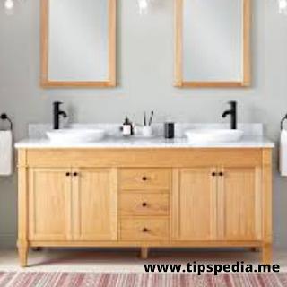 white oak bathroom cabinets