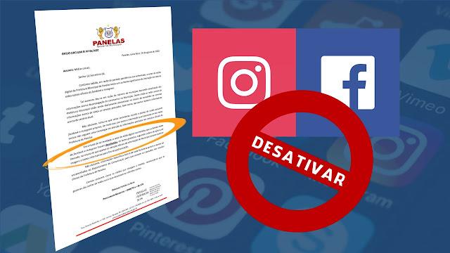 Prefeitura de Panelas vai desativar contas de secretarias e escolas municipais no Facebook e Instagram