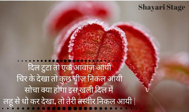Best Hindi Dard Shayari for broken heart image