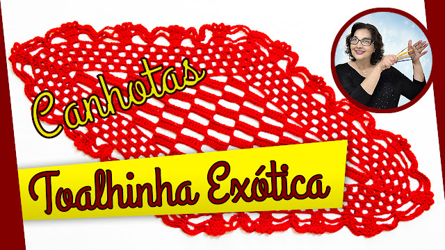 Toalhinha em Crochê Passo a Passo Edinir Croche no Curso de Croche.