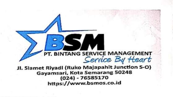 Lowongan Kerja Semarang SMA Juli 2020 Terbaru di PT Bintang Service Management sebagai