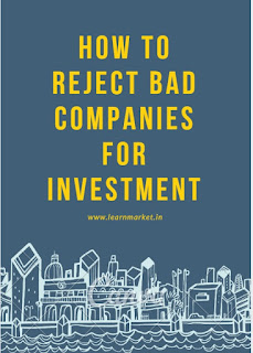 reject bad companies, Investment