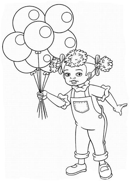 Gambar Mewarnai Balon - 15