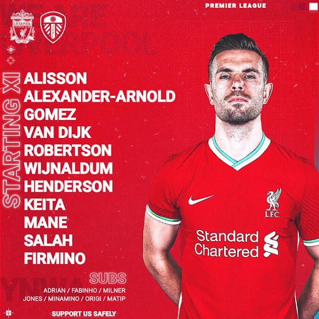 تشكيل ليفربول الرسمي