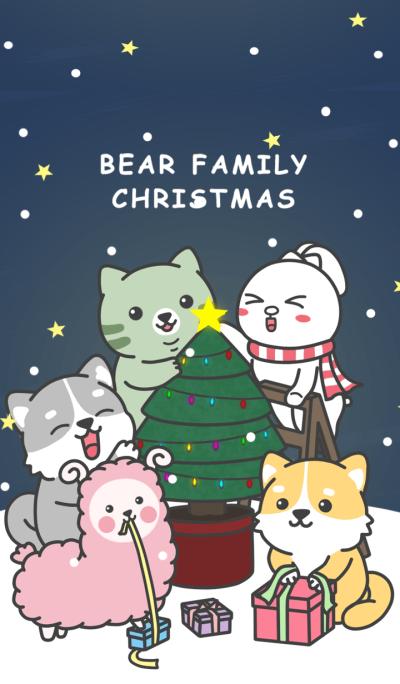 Bear family Christmas
