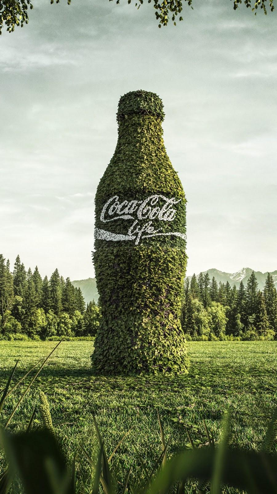 Papel de parede grátis Coca-Cola Life para PC, Notebook, iPhone, Android e Tablet.