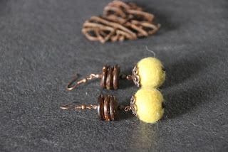 felted wool earrings