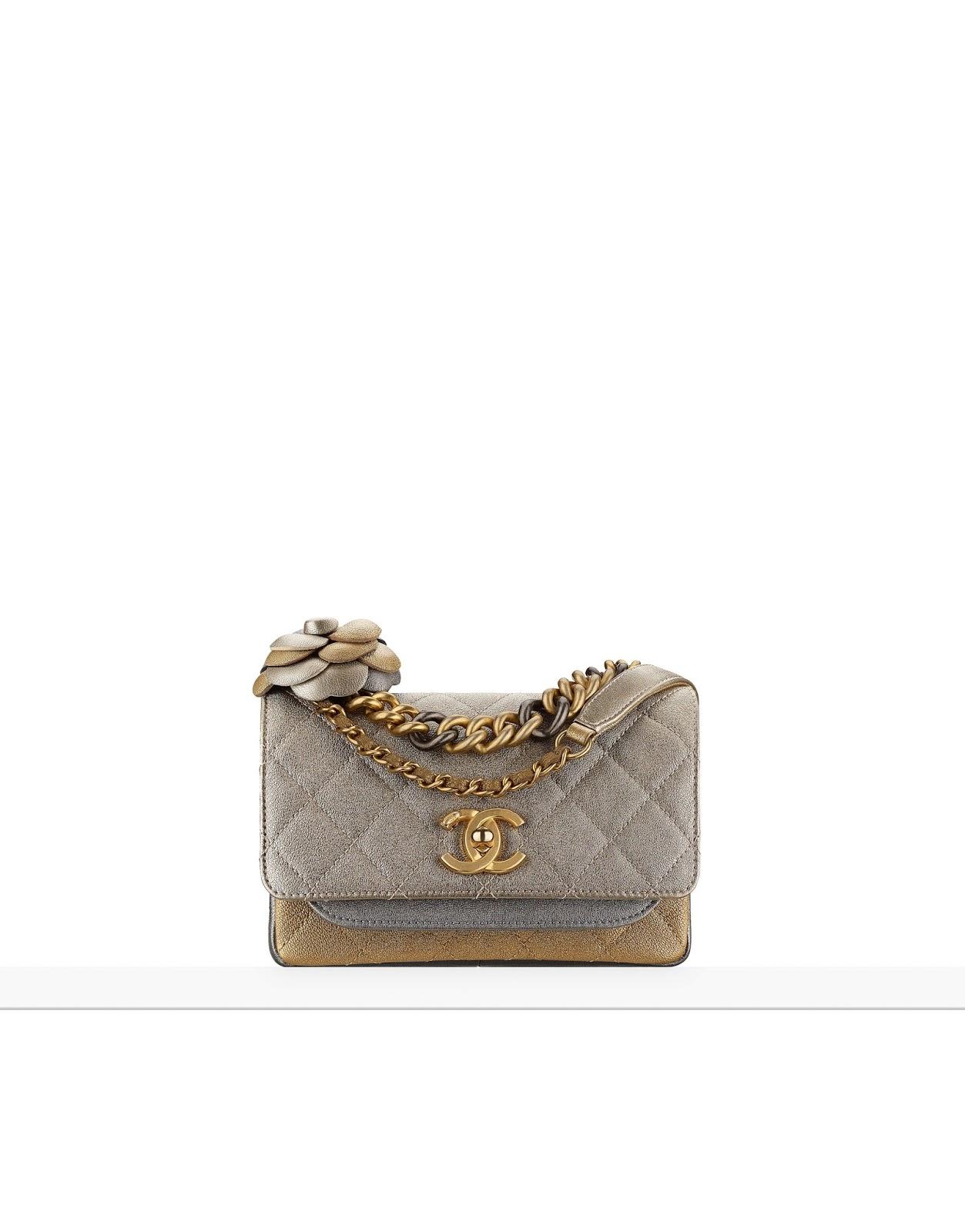 Chanel's Metallic Lambskin Flap With Camellia