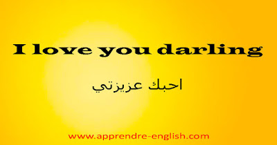 I love you darling    احبك عزيزتي