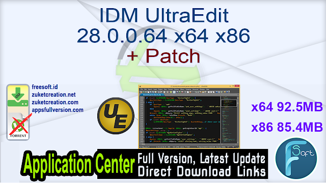 IDM UltraEdit 28.0.0.64 x64 x86 + Patch