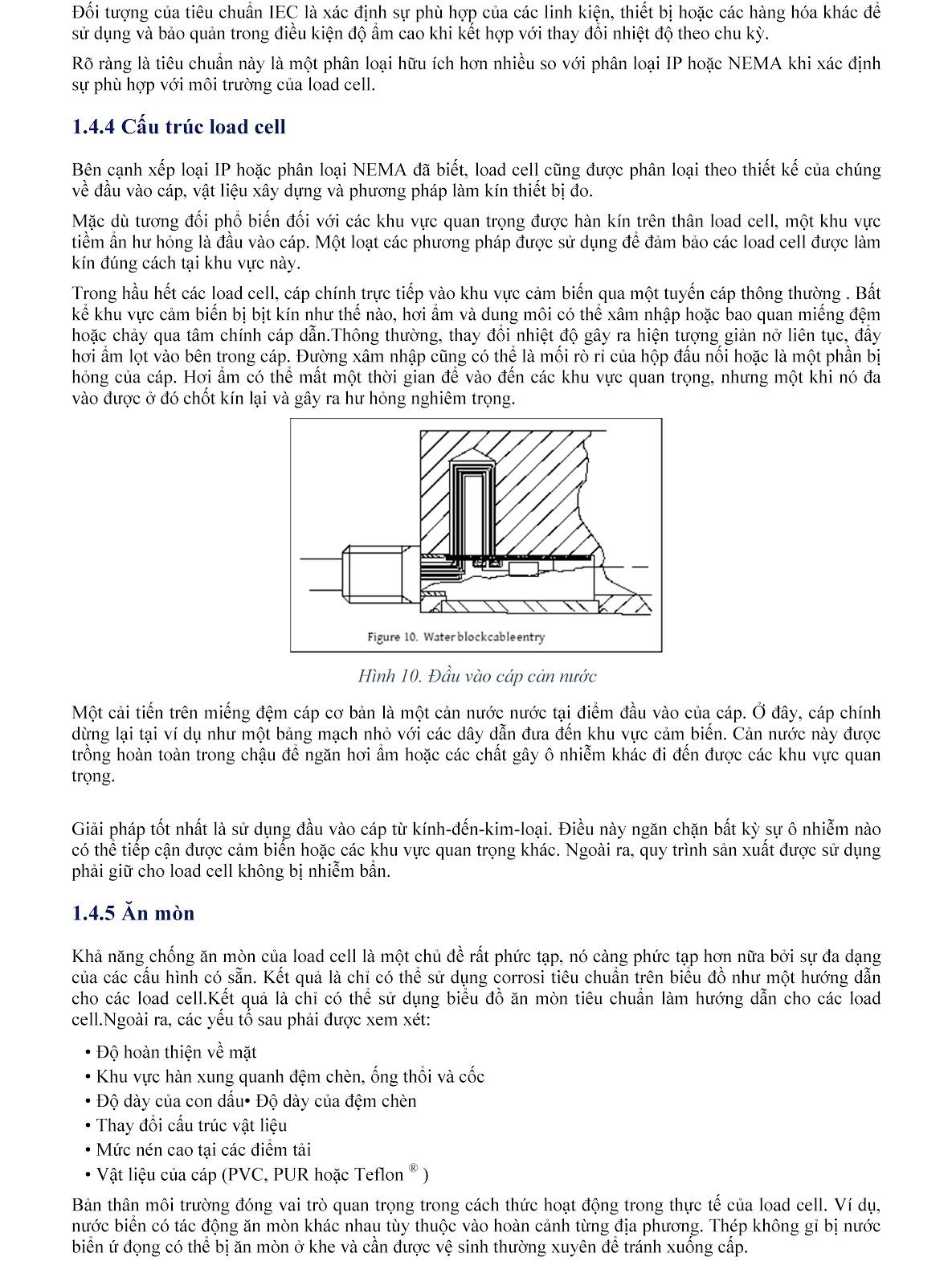 Lưu ý kỹ thuật về Load cell và module cân điện tử (tt) 9
