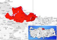 Salıpazarı ilçesinin nerede olduğunu gösteren harita.