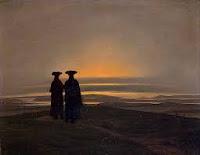 Caspar David Friedrich, Deux hommes sur le rivage, 1830-1835