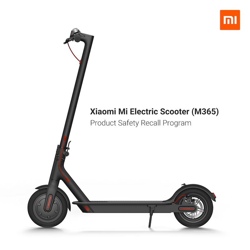 Xiaomi recalls Mi Electric Scooter (M365) due to a product safety issue