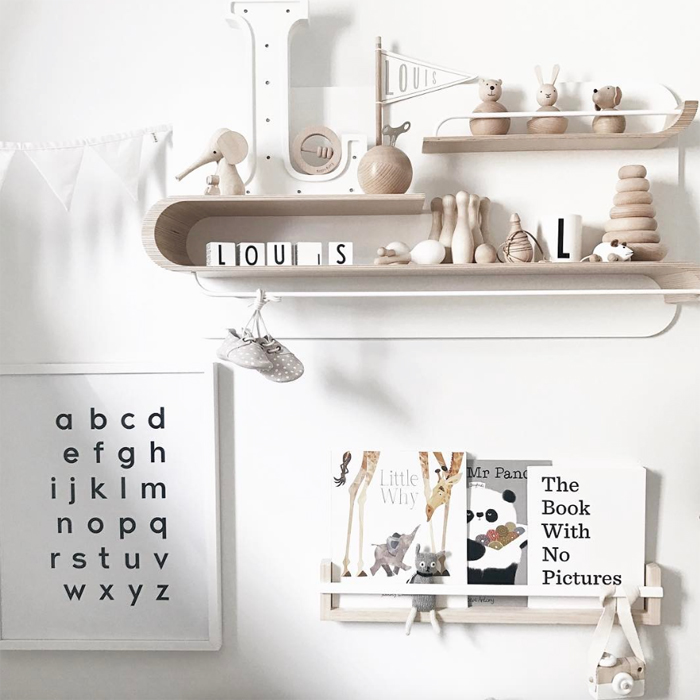 Rafa L shelf in Louis' Nursery