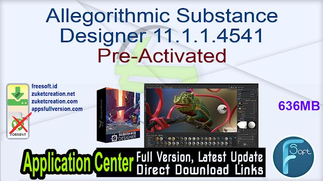 Allegorithmic Substance Designer 11.1.1.4541 Pre-Activated