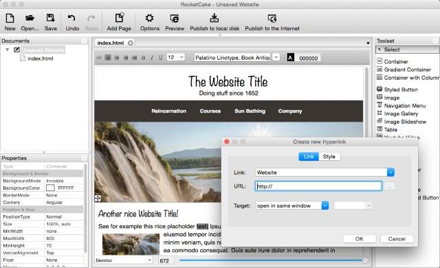 RocketCake - Φτιάξτε το δικό σας site χωρίς γνώσεις κώδικα