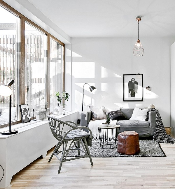 Piccoli spazi stile scandinavo versione mini 34mq con for Interni parigini
