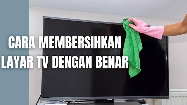 """Cara Membersihkan Layar TV Semua Merek Dengan Benar dan Mudah Membersihkan TV sangatlah penting sebab disamping untuk di nikmati, dapat menyingkirkan sarang debu yang akan mengganggu kesehatan. Di dalam membersihkan TV ada beberapa bahan yang harus disediakan, kemudian baru bisa mengikuti setiap tahapan-tahapan yang boleh dilakukan.  Bahan Untuk Membersihkan TV Sebelum membersihkan layar dan frame TV ada beberapa bahan yang dibutuhkan yaitu :  Kain yang bersih, lembut, dan kering (Kain Microfiber). Sebotol cairan pembersih layar.   Cara Membersihkan TV Di dalam membersihkan layar dan frame TV ada beberapa tahapan yang harus dilakukan yang di antaranya adalah :  Matikan dan cabut kabel TV sebelum mulai membersihkan. Pertama-tama bersihkan frame LED TV dengan kain yang lembut, bersih, tidak berserat, dan kering. Kemudian membersihkan layar, pertama usap perlahan menggunakan kain yang lembut, bersih, tidak berserat, dan kering. Jika masih ada kotoran, semprotkan ScreenClean atau cairan pembersih layar lainnya ke kain. Jangan pernah menyemprotkan cairan pembersih langsung ke layar TV, sebab nanti akan merusak panel layar.  Usap layar dengan kain selembut mungkin. Layar LED TV mudah tergores dan akan rusak apabila menekannya terlalu keras. Biarkan layar sampai benar-benar kering sebelum memasang kembali kabel TV. Setelah kering, TV sudah selesai dibersihkan dan siap untuk dinyalakan.   Nah itu bagaimana cara membersihkan layar TV semua merek dengan benar dan mudah. Melalui bahasan di atas bisa diketahui mengenai beberapa tahapan yang dilakukan untuk membersihkan layar TV. Mungkin hanya itu yang bisa disampaikan di dalam artikel ini, mohon maaf bila terjadi kesalahan di dalam penulisan, dan terimakasih telah membaca artikel ini.""""God Bless and Protect Us"""""""