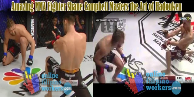 Amazing MMA Fighter Shane Campbell Masters the Art of Hadouken (Energy Ball) Beats Opponent