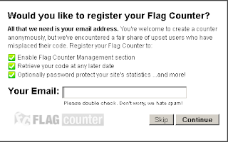Cara memasang widget Visitor Flag Counter