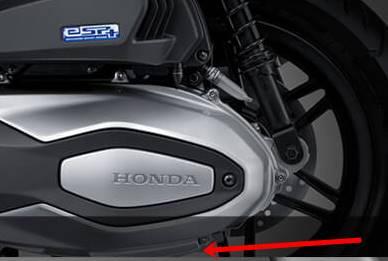 Letak Nomor Rangka dan Nomor Mesin Honda Forza