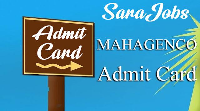 MAHAGENCO Admit Card