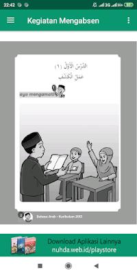 Aplikasi Buku Siswa Bahasa Arab Kelas 1 MI Kurikulum 2013