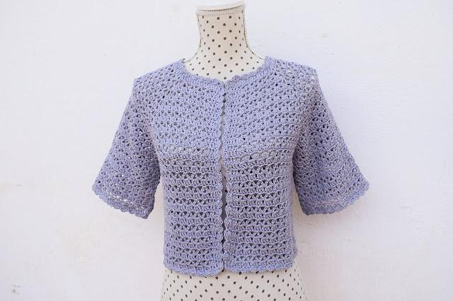 4 - Crochet Bolero para mujer a crochet y ganchillo Majovel Crochet facil sencillo bareta paso a paso DIY puntada punto alto punto bajo