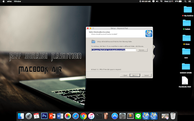 Cara Install .EXE di Macbook