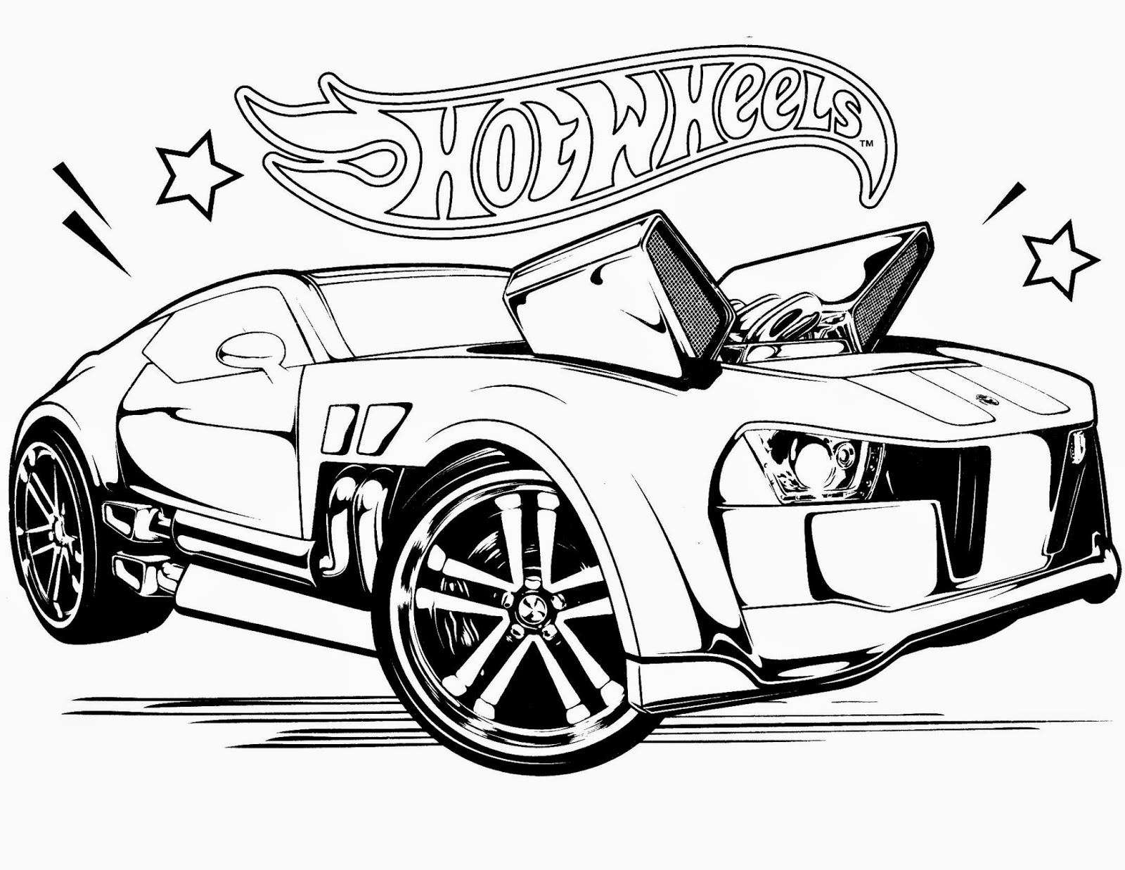 Team Hot Wheels Coloring Coloring Pages