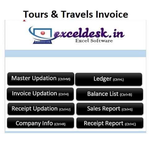 Tours Travels Company Invoice Management