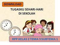 RPP Kurikulum 2013 Kelas 2 SD Tema 3 Tahun Pelajaran 2018/2019