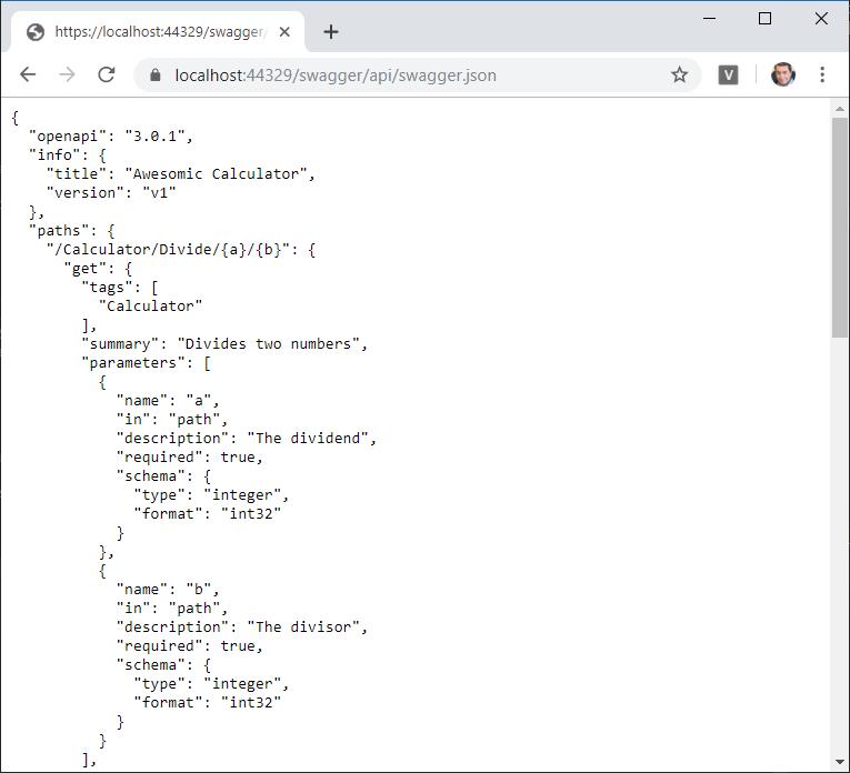 Descripción OpenAPI de una API