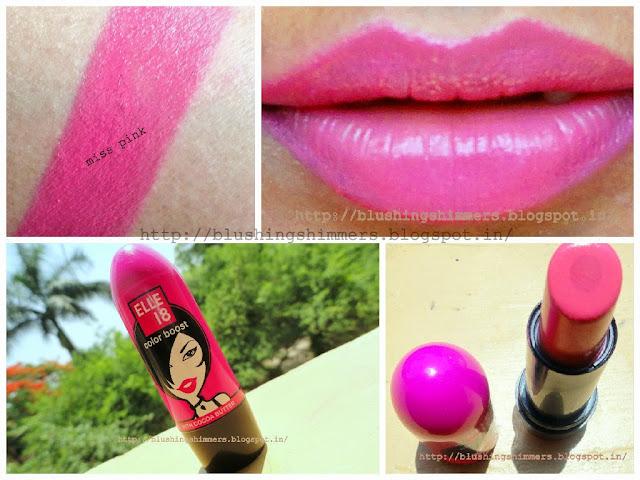 Elle 18 colour boost lipstick Miss pink
