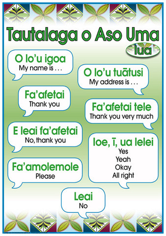 Rowandale school samoan language week 29 may 4 june 2016 learning of samoan sayings on the main samoan lanuage poster m4hsunfo