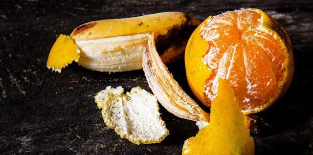 Banana and orange peels