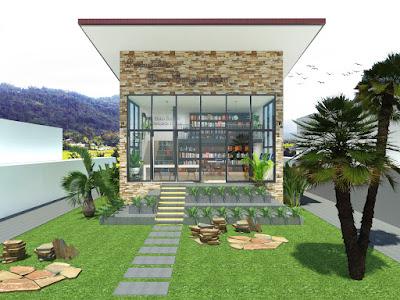 Desain Perpustakaan Desa Modern by griyabagus.com