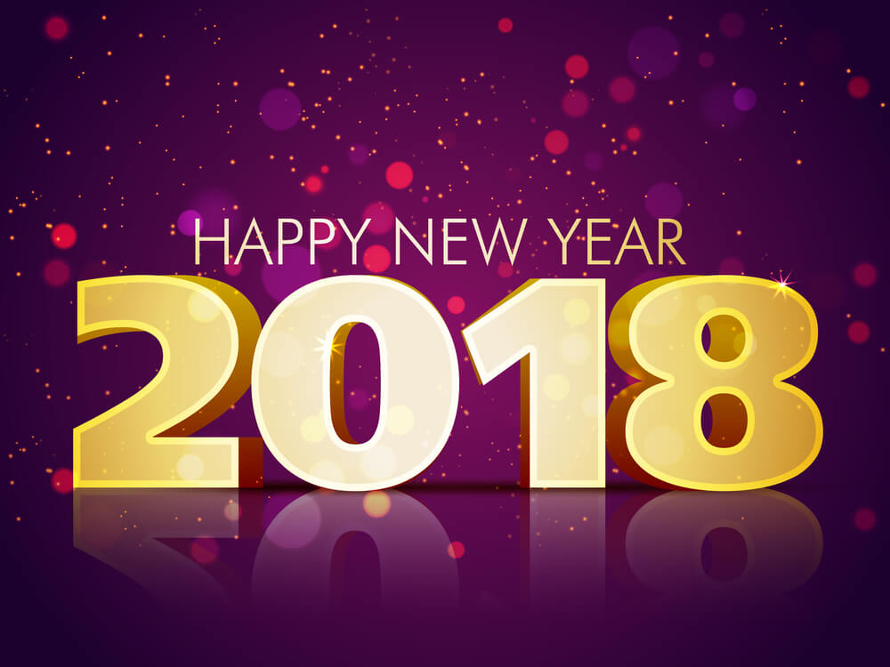 Elegant Happy New Year 2018 Hd Wallpaper For Android