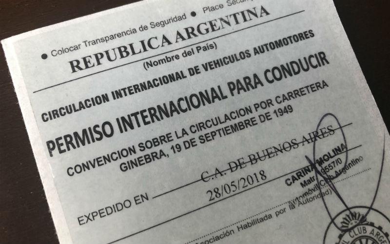 Permiso Internacional de Conducir en la Argentina