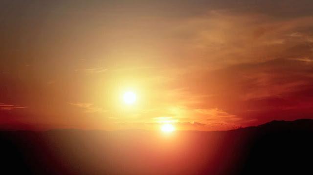 Exoplanet Kepler-16b Sunset