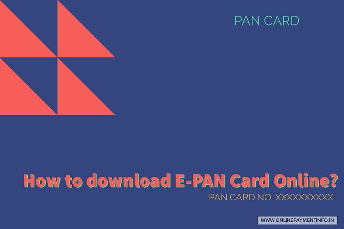 download e pan card income tax