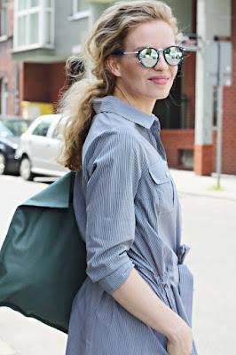 wakacyjna sukienka, wiosenne stylizacje, moda w mieście, office style, business look, styl do biura. stylistka poznań, lato w mieście,sukienka szmizjerka, sukienki na lato, twój styl, moda i styl, blog po 30ce