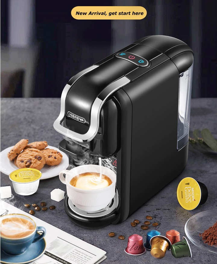 NEW Coffee maker 4 in 1 Multiple Capsule Espresso Machine for Nestle Dolce Gusto Milk Capsule Nespresso ESEpod Coffee Powder H2 Best machine for Coffee making