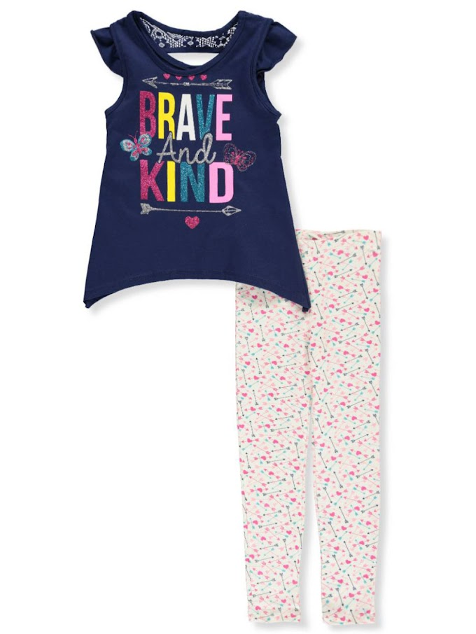 COOKIESKIDS - GIRLS' 2-PIECE LEGGINGS SET OUTFIT $6.99